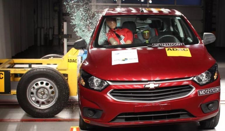 Chevrolet Onix recebe pior nota do Latin NCap