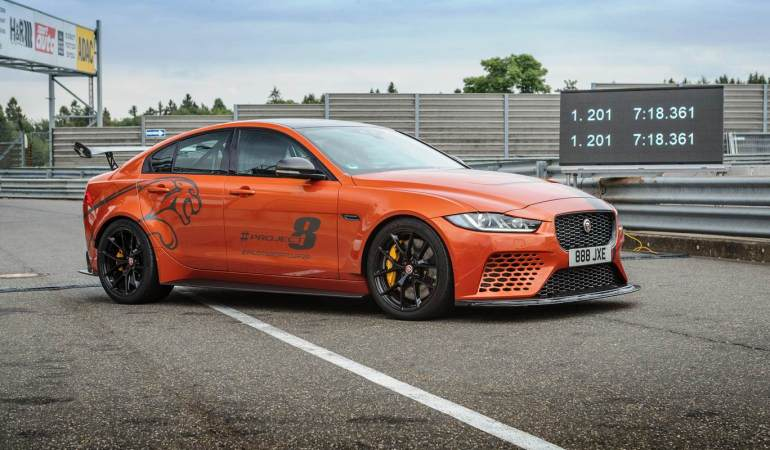 Jaguar XE SV Project 8 continua sendo o mais rápido do mundo